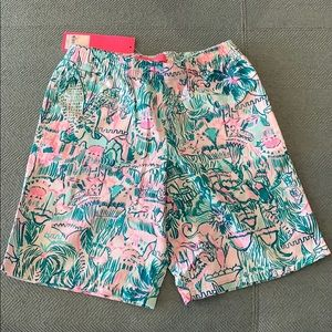 Lilly Pulitzer Boys shorts Bright Agate Green